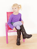 Girl wearing boots Royalty Free Stock Photo