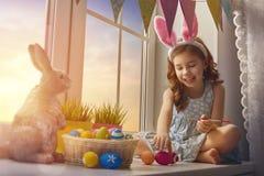 Girl wearing bunny ears Royalty Free Stock Image