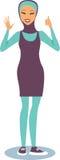 Girl wearing burqini Stock Image