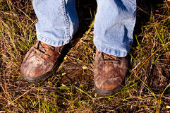 Camo boots Stock Image