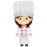 Girl wearing Chef Uniform Royalty Free Stock Photo