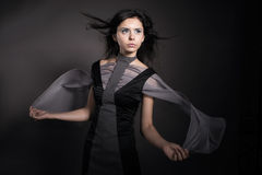 Girl wearing conceptual clothing Royalty Free Stock Photo