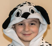 Girl Wearing Dalmatian Onesie Stock Photos