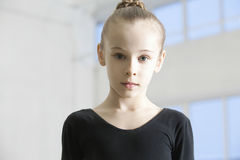 Girl Wearing Dance Leotard In Warehouse Stock Photo