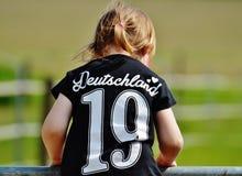Girl Wearing Deutschland 19 Black T Shirt during Daytime Stock Photos