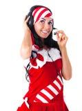 Girl wearing earphones Royalty Free Stock Photo