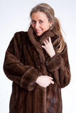 Girl wearing fur b Royalty Free Stock Photography