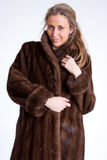 Girl wearing fur a Royalty Free Stock Photo