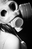 Girl wearing gasmask Royalty Free Stock Photo