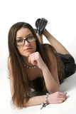 Girl Wearing Glasses Stock Images