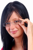 Girl Wearing Glasses Royalty Free Stock Photo