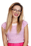 Girl wearing glasses Royalty Free Stock Images
