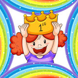 Girl Wearing Golden Crown Royalty Free Stock Photography