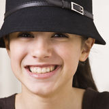 Girl Wearing Hat Stock Images