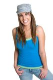 Girl Wearing Hat Royalty Free Stock Images