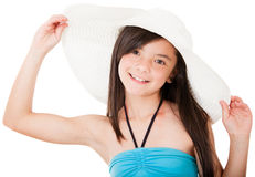 Girl wearing a hat Royalty Free Stock Images