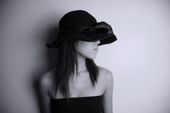 Girl wearing a hat Stock Photo
