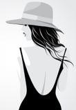 Girl Wearing Hat Royalty Free Stock Photos