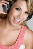 Girl Wearing Headphones Stock Photography