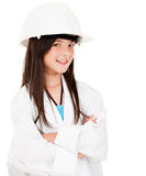 Girl wearing a helmet Stock Image