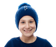 Girl wearing a knit cap Stock Photography