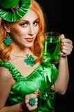 Girl wearing leprechaun Stock Photography