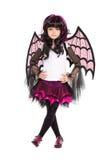 Girl wearing like a bat Royalty Free Stock Photography
