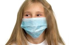 Girl wearing medical mask Stock Photos