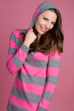 Girl Wearing Pink Stock Images