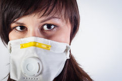 Girl wearing protective mask Royalty Free Stock Photos