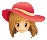 A girl wearing a red hat Stock Photo