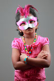 Girl wearing samba mask Stock Image
