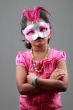 Girl wearing samba mask Stock Image