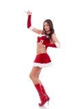 Girl wearing santa claus clothes Royalty Free Stock Image