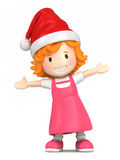 Girl wearing santa hat Stock Photography