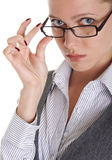 Girl wearing spectacles Royalty Free Stock Image