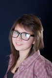 The girl wearing spectacles Stock Photo