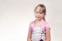 Girl wearing spectacles. Royalty Free Stock Photos