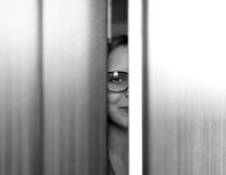 Girl wearing spectacles Stock Photo