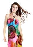 Girl wearing a summer dress Stock Image