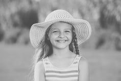 Girl wearing sun hat Royalty Free Stock Photo