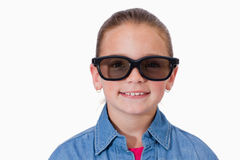 Girl wearing sunglasses Royalty Free Stock Photo
