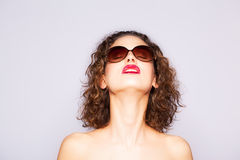 Girl wearing sunglasses Royalty Free Stock Images