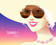 Girl wearing sunglasses Stock Image