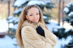 A Girl Wearing Warm Winter Clothes Stock Photos