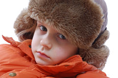 Girl wearing winter clothing Stock Photography