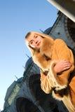Girl wearing winter coat Royalty Free Stock Photos
