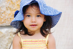 Girl wears hat Royalty Free Stock Photo