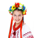 Girl wears Ukrainian national dress Royalty Free Stock Photo