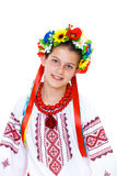 Girl wears Ukrainian national dress Royalty Free Stock Images